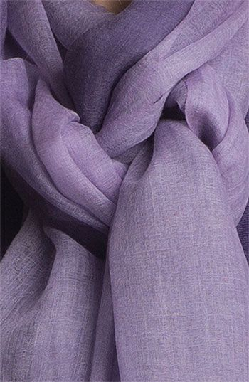 Lavender Eileen Fisher Ombré Featherweight Wool Scarf...I said I didn't like purple but this dusty lavender is gorgeous and I like plain scarves.