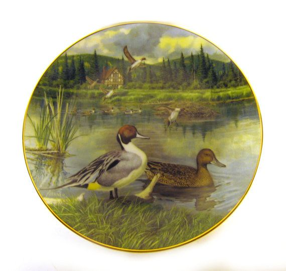 The Pintail, Bart Jerner Limited Edition Decorative Collectible Plate, The Wildlife Society, Knowles China 1986