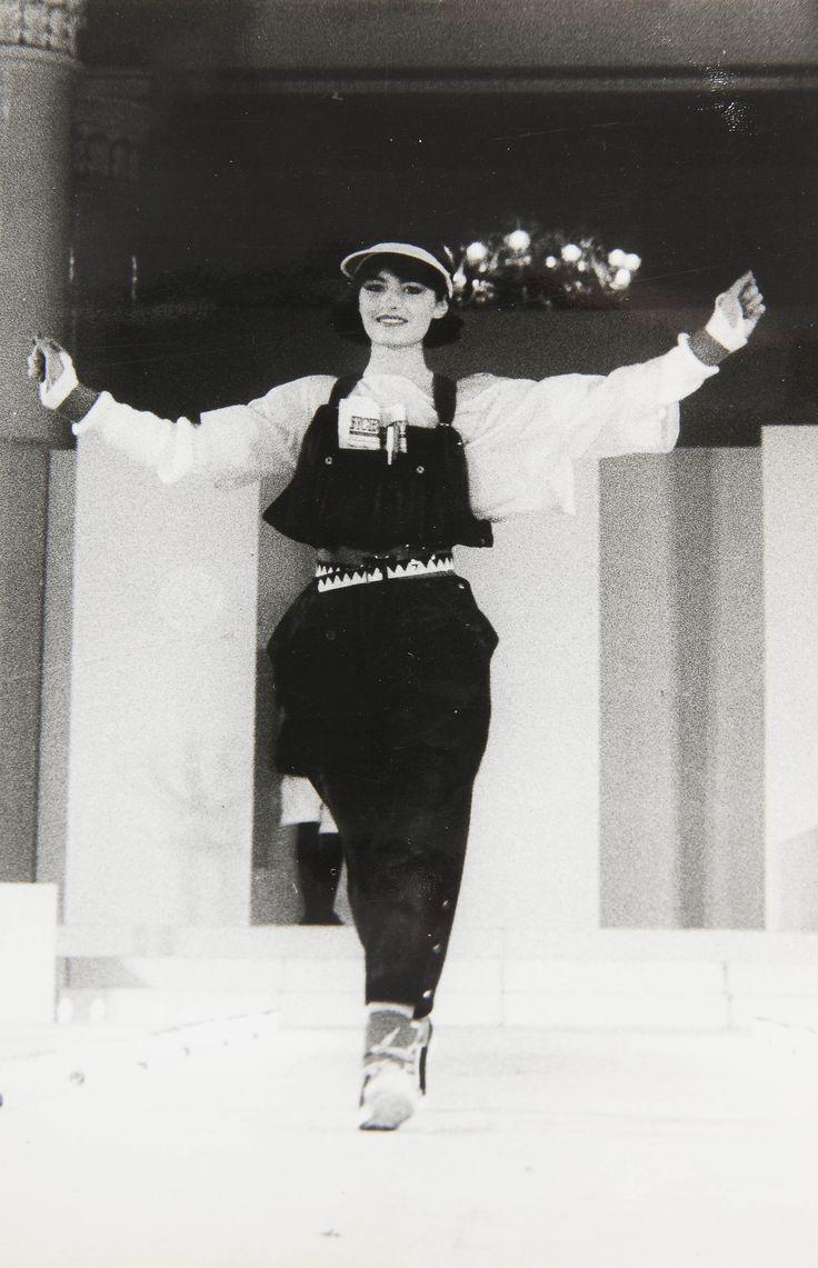 """Pokaz kolekcji """"Mody Polskiej"""", lata 80., wł. MNK #PRL #Moda Polska #Polish Fashion"""