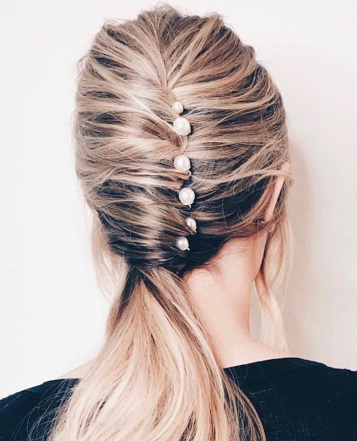 Pretty Elegant Twist On The French Twist Featuring Sparkling Hair