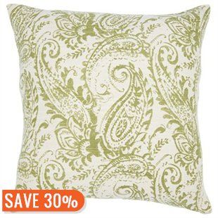 Paisley-Printed Pillow – Green by Indigo | Decorative Pillows Gifts | chapters.indigo.ca