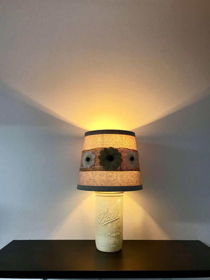 Rustic Mason Jar Lamp, wide mouth ball jar, ball jar light, rustic night light, rustic decor, decorative lamp, rustic, night light by CaliradoArt on Etsy https://www.etsy.com/listing/527894723/rustic-mason-jar-lamp-wide-mouth-ball