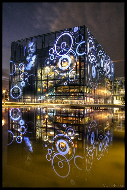 The Koncerthuset (Danish name: Koncerthuset, previously Copenhagen Concert Hall in English) by Jean Nouvel is a part of the new DR Byen (DR Town), that houses the Danish Broadcasting Corporation, DR. Located in the northern part of Ørestad - an ambitious development area in Copenhagen, Denmark. The concert complex consists of four halls with the main auditorium seating 1,800 people.