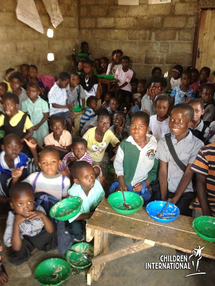 Joyful Ceremony in Zambia Thanks Children International and Sponsors for School Feeding Program  School Feeding Programs in Zambia Help Impr...