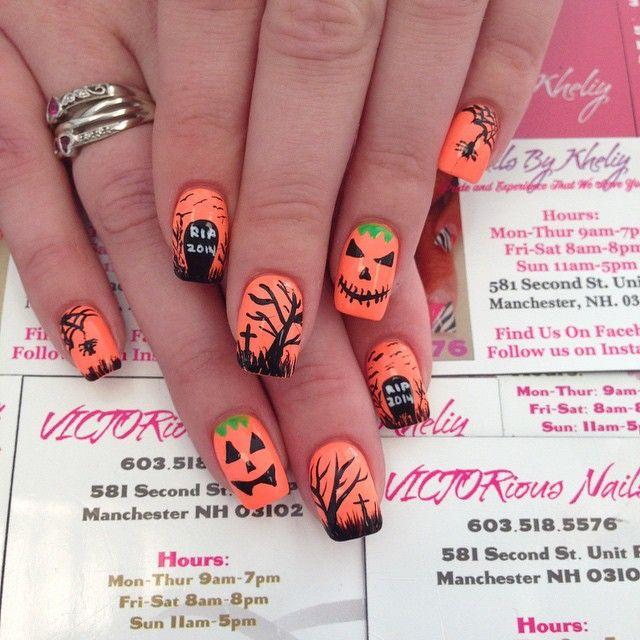 Instagram Media nailsbyvictor – Halloween # Thumbnail #Nails # Thumbnailart   – Halloween