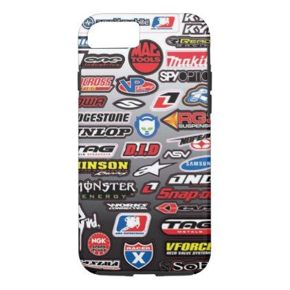 (motorcycle stickers) iphone 7/8 case - boy gifts gift ideas diy unique
