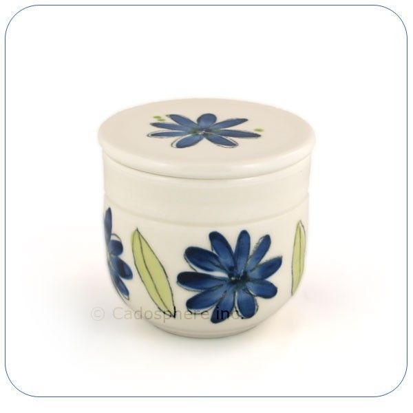 Blue Flowers Butter Keeper
