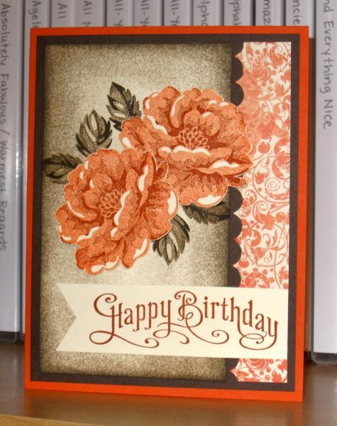 Tangerine Birthday Roses by Christy S. - Cards and Paper Crafts at Splitcoaststampers
