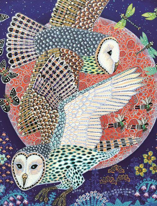 Owls artwork by Danish artist Esben Hanefelt Kristensen My Owl Barn