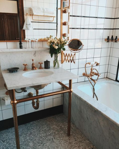 eclectic bathroom with bronze features - Eclectic Bathroom