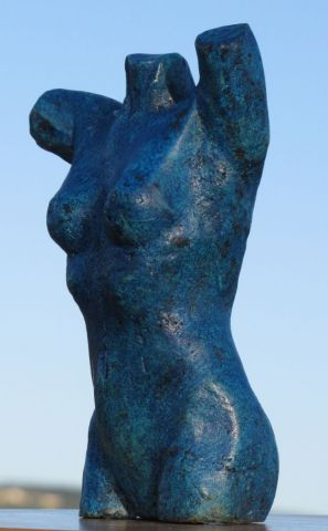 Didier MALLARD - buste femme patiné