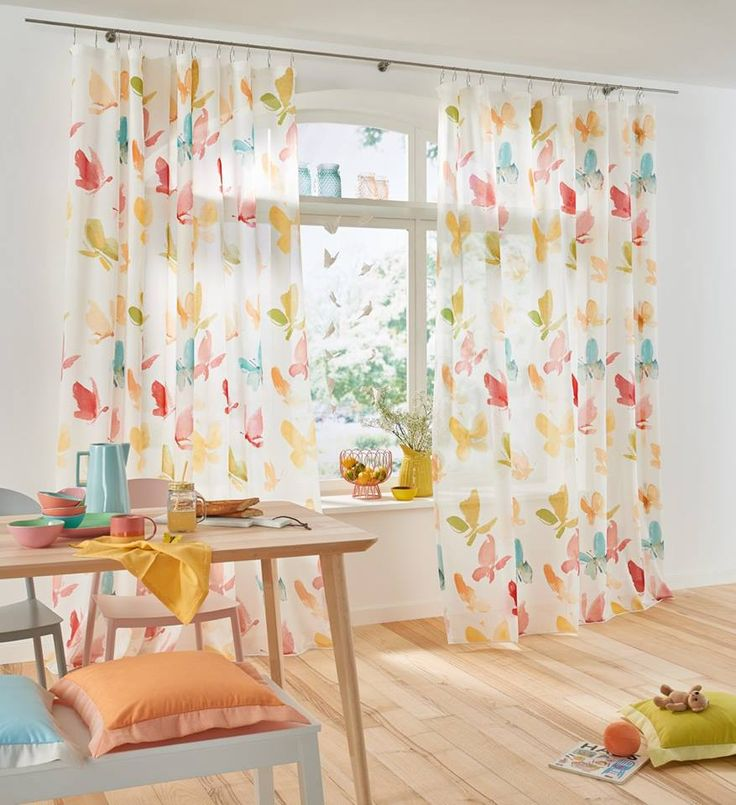 Tess de Saum & Viebahn: Mariposas de colores! / Papallones de colors! #visillo #cortina #saum #ontariofabrics #emotion
