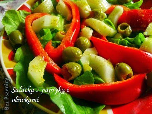 Bez Pszenicy: Sałatka z papryką i oliwkami