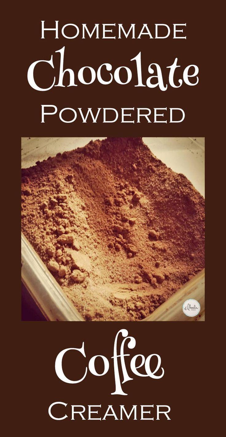 Homemade chocolate powdered coffee creamer recipe