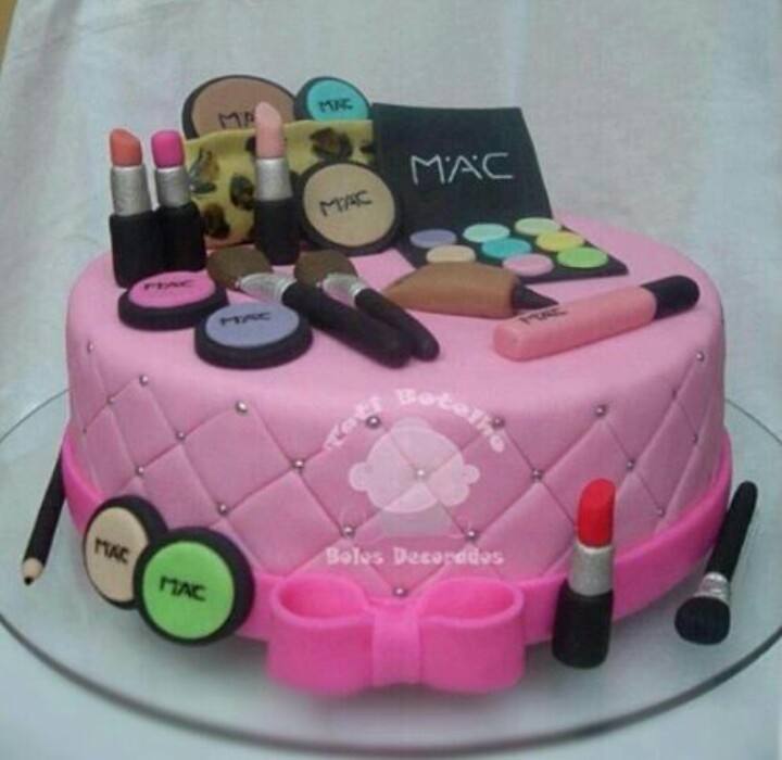 Makeup Birthday Cake Images Perfectend for