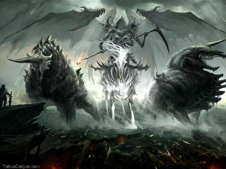 Grim Reaper And His Hellhounds Wallpaper Mhzix Free