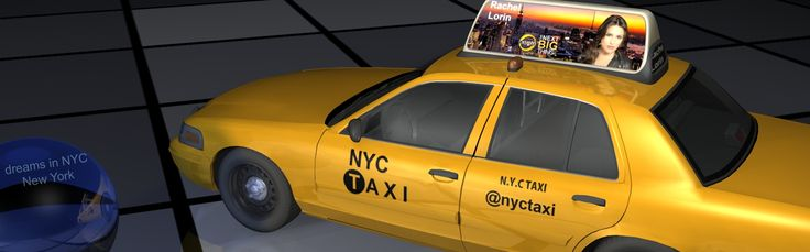 #3D TAEVision - RachelLorin - Dreams in #NYC 'where dreams are made' -Nr 5- #Ford #nyctaxi #automotive #ILOVENY