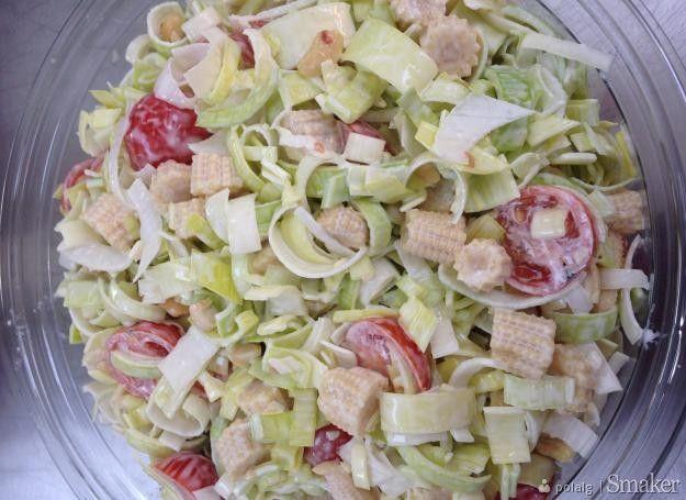 Prosta salatka z pora