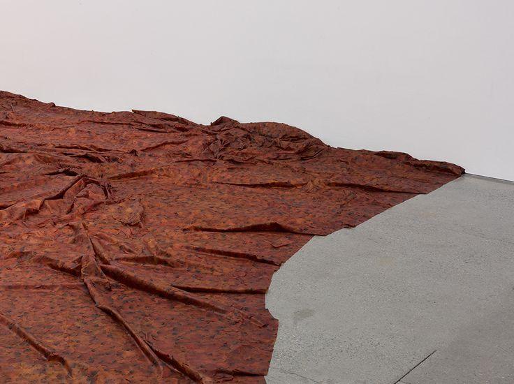 Doris Salcedo   A Flor de Piel - preserved rose petals stitched together