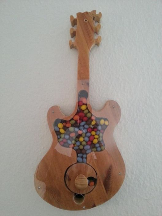 Candy Dispenser Gitarre Anleitung Zum Selber Bauen Kidswoodcrafts