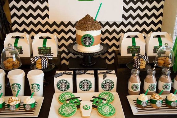 Starbucks Birthday Coffee Lover Printable by Partyperfectdesign