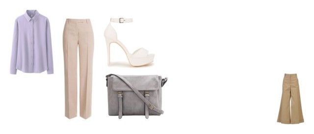 """neutrals"" by ivanaputri on Polyvore featuring Uniqlo, CÉLINE, Emilio Pucci and Nly Shoes"