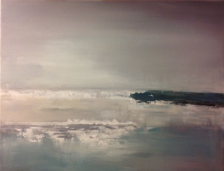 Acrylic on canvas, abstract seascape by Amy Routledge Art