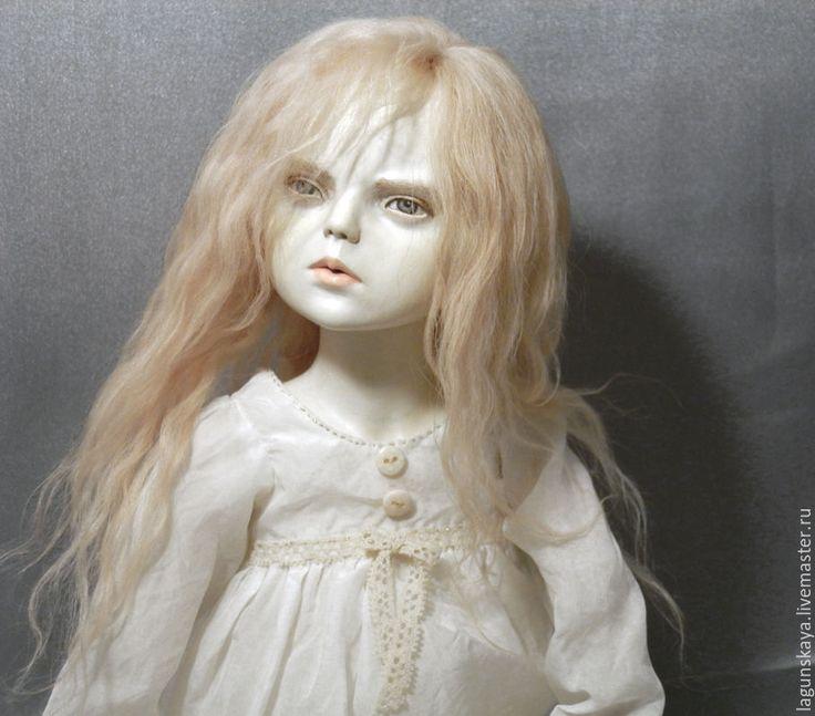 Купить Призрак Адель - белый, призрак, девочка, кукла в подарок подруге, мистика, готика, флюмо