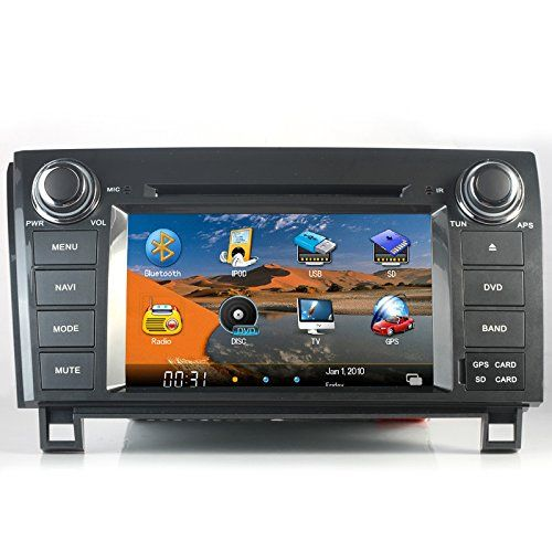 NewerStone For 2007-2012 Toyota Tundra & Sequoia Car DVD Player with GPS Navigation System and Digital Touchscreen /with Install dash kit With Radio (AM/FM),iPod Interface,Bluetooth Hands Free,USB, AUX Input,USA Map,Plug & Play Installation,Rear Camera Included - http://www.productsforautomotive.com/newerstone-for-2007-2012-toyota-tundra-sequoia-car-dvd-player-with-gps-navigation-system-and-digital-touchscreen-with-install-dash-kit-with-radio-amfmipod-interfacebluetoo