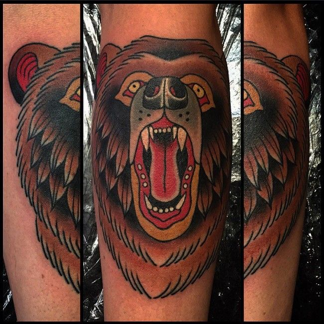Bear tattoos Bear tattoos, Bear tattoo meaning, Bear