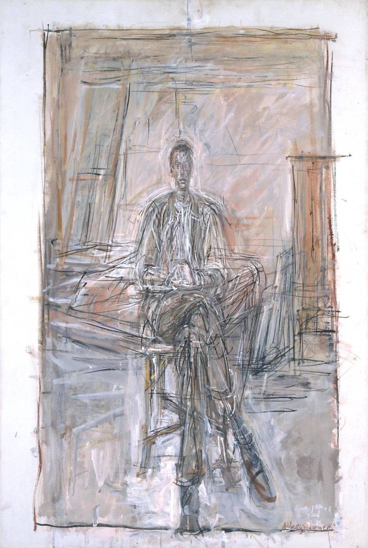 Alberto Giacometti  1949+Seated+Man+oil+on+canvas+80+x+54+cm+©+ADAGP,+Paris+and+DACS,+London+2002.jpg (778×1160)