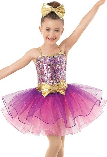 Weissman™   Sequin Glitter Tulle Dress with Bows