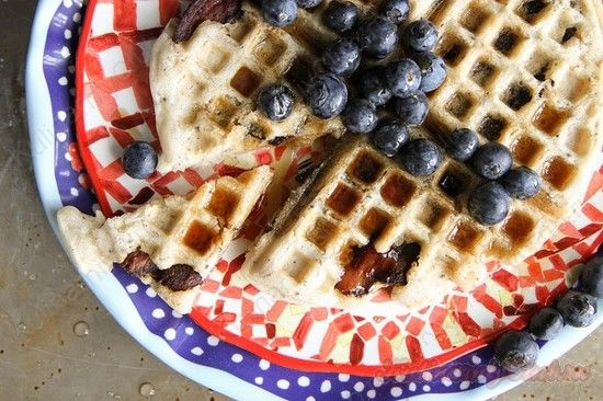 Вафли с беконом on http://kulinarniyclub.ru Bacon waffles