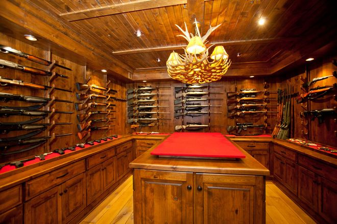 Private gun room google search man cave pinterest for Gun vault room