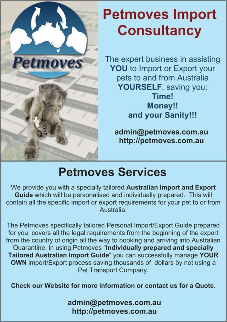 The least expensive way to import or export you dog or cat to or from Australia.