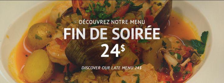Une table d'hôte 24$, juste pour vous du Mardi au Samedi à partir de 21h, applicable aussi pour les soirées #hockey au #centreBell avant et après le #match  #restomkt #BellCenter #restomtl #montreal #montreal #canadiens
