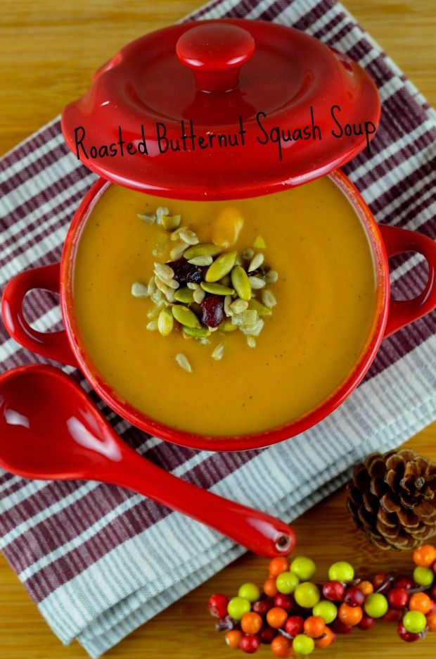roasted butternut squash soup - #butternut squash, #soup #vegan #kosher #glutenFree #fall #thanksgiving #healthy