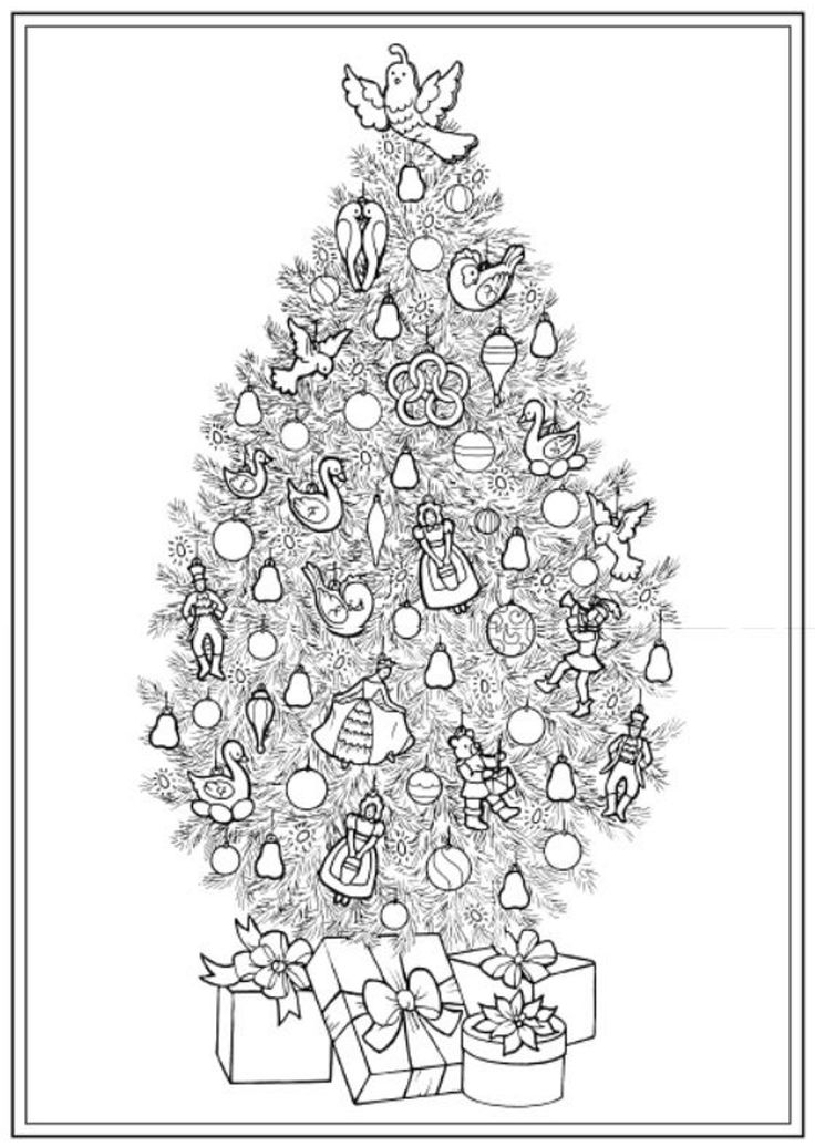 Creative Haven Christmas Trees Coloring Book Dover Publications