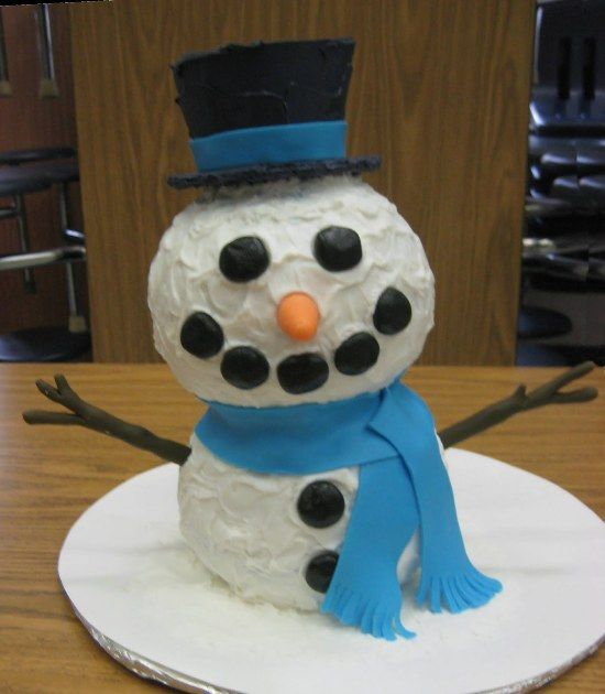 Snowman Cake Picture