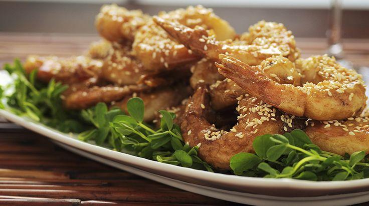 Ricetta Gamberoni piccanti al miele con semi di sesamo - Giornale del cibo