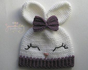 Crocheted Baby Boy Easter Hat Baby Boy Bunny Hat by YarnForBaby