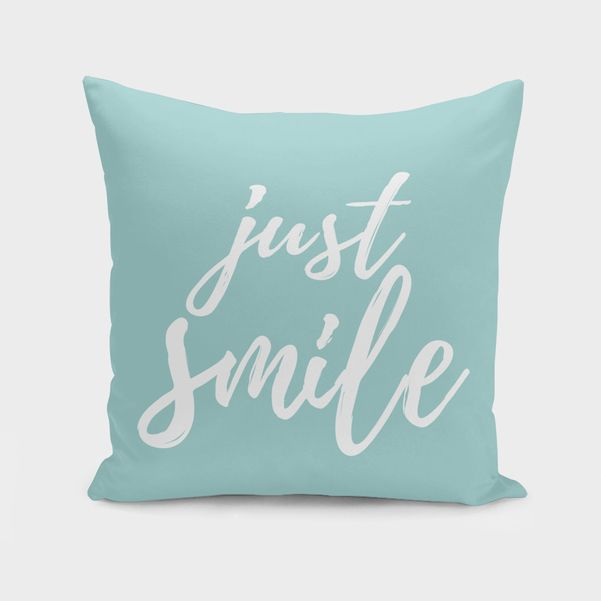 Discover «Just Smile», Numbered Edition Throw Pillow by Elina Koutsokera - From 25€ - Curioos