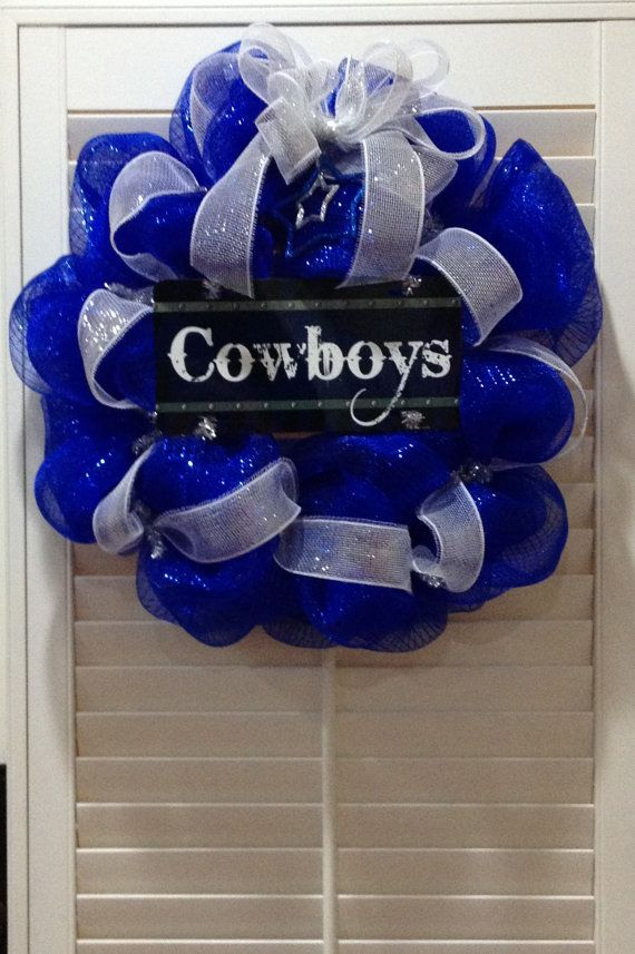 Dallas Cowboys  Door Wreath by GreatLittleGiftShop on Etsy, $65.00