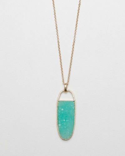 The Druzy Pendant / Need Supply Co.: Pendants Necklace, Color