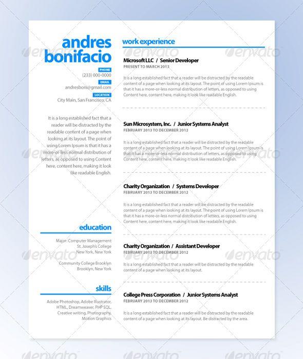 Lb Plain Resume Series 1 Resume Plain Work Experience