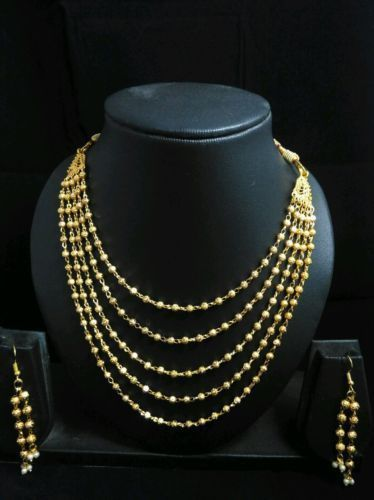 South Indian Traditional Jewellery 5 line ball chain necklace designer wedding…
