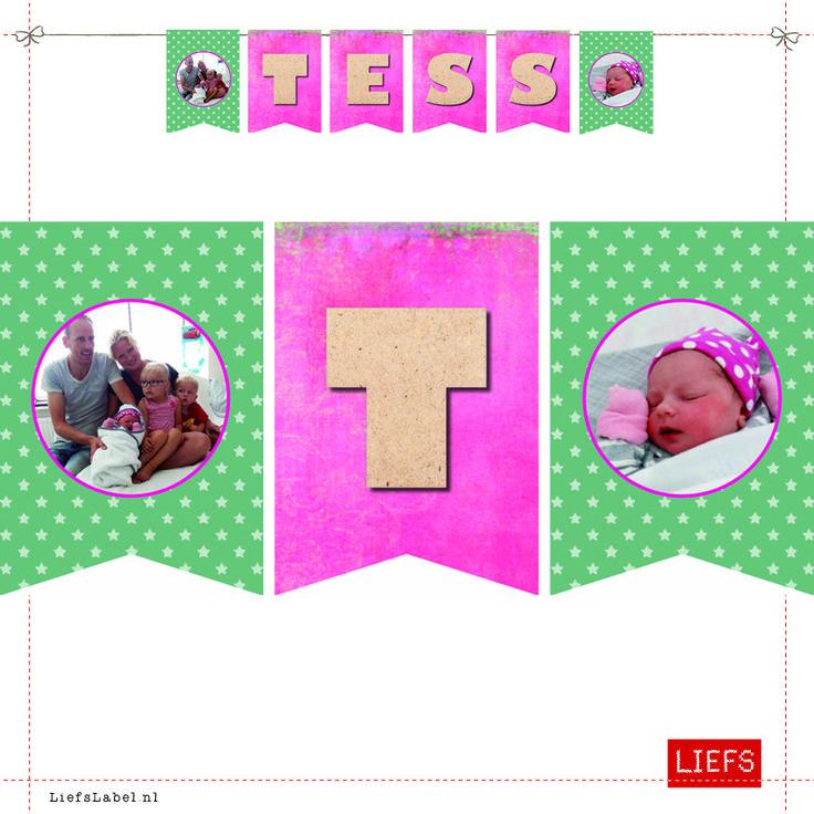 Tess ♡ Kids ♡ Ontwerp op Maat ♡ Maak ook je eigen slinger! ♡ www.LiefsLabel.nl