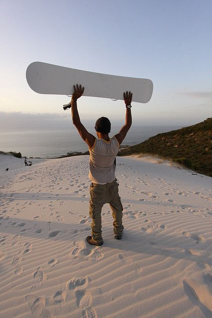 Another reason to love South Africa: sandboarding at the Atlantis Dunes near Cape Town!