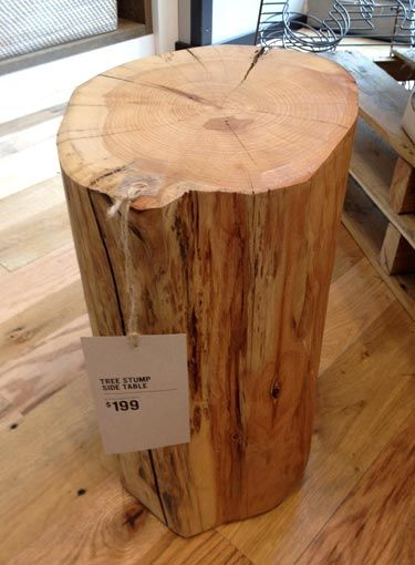 How do I get into the tree stump side table