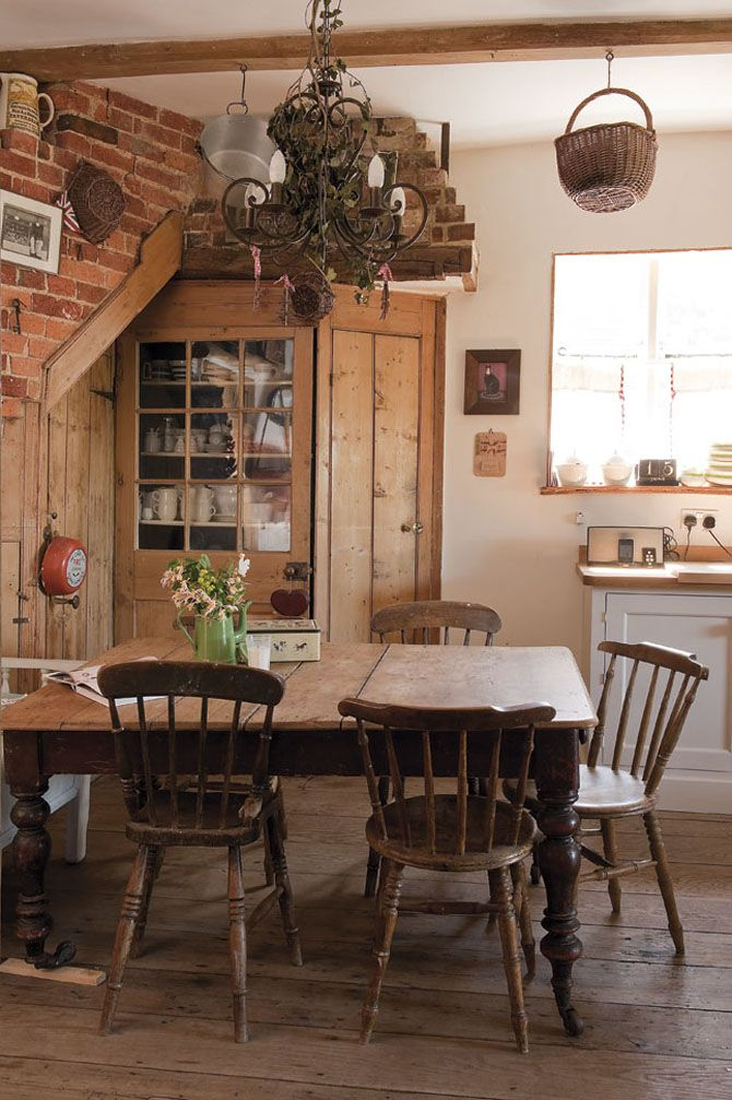 Prim Dining Rustic Kitchens Kitchens Dining Dreams Cottages Country